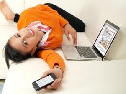 Mit dem Handy online